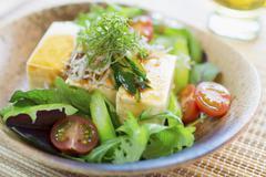 Cold tofu salad Stock Photos