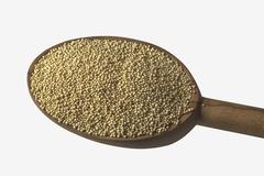 Amaranth on a wooden spoon Stock Photos