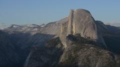 National Park Yosemite Half Dome lit by Sunset Light Glacier Point Stock Footage