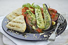 Ratatouille with grilled bread Stock Photos