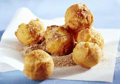 Bullebasches (deep-fried pastry balls, Eastern Frisia, Germany) Stock Photos