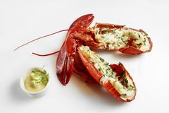 Lobster with mayonnaise Stock Photos