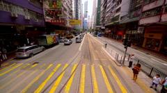 PEDESTRIANS PELICAN CROSSING WAN CHAI HONG KONG Stock Footage
