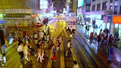 PEDESTRIANS ON PELICAN WAN CHAI HONG KONG CHINA Stock Footage