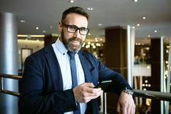 Portrait of mature entrepreneur Stock Photos