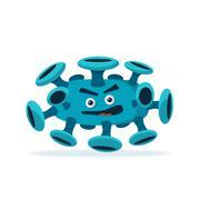 Bacteria character. Cartoon vector illustration. Microbiology Stock Illustration