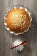 Pastis landais (yeast dough roll, France) Stock Photos