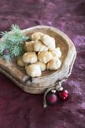 Bethmännchen (pastry made from marzipan with almonds, powdered sugar, rosewater, Stock Photos