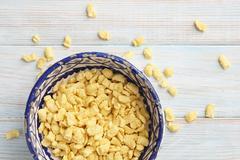 A bowl of soft egg pasta Stock Photos