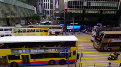 PEOPLE WALKING STREET PEDDER CENTRAL HONG KONG Stock Footage