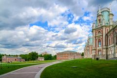 Moscow, Russia - June 08, 2016. Grand Palace in Tsaritsyno museum reserve Stock Photos