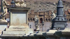 St Angelo Castle in Rome Stock Footage