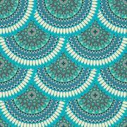 Ornate floral seamless texture, endless pattern with vintage mandala elements Stock Illustration