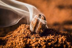 The aroma of freshly ground coffee Stock Photos