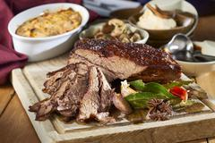 Beef tri-tip with sides Stock Photos