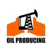 Oil production logo. petroleum industry sign. Logo for petrol processing. nap Stock Illustration