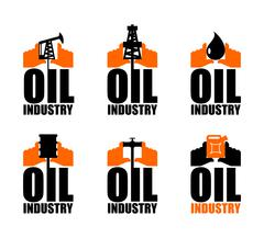 Oil industry logo. petroleum production sign. Logo for petrol processing. nap Stock Illustration