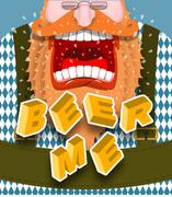 Beer me shout. Angry and aggressive man shouts. Red beard and mustache. Bavar Stock Illustration