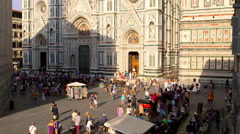 CROWDS OF TOURISTS FLORENCE TUSCANY ITALY Stock Footage