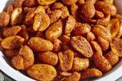 Chilli nuts (Mexican snack) Stock Photos