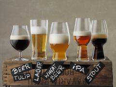 Various types of beer Stock Photos