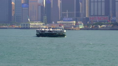 STAR FERRY BOATS VICTORIA HARBOUR HONG KONG Stock Footage