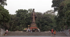 Ly Thai To Monument in Hanoi, Vietnam Stock Footage