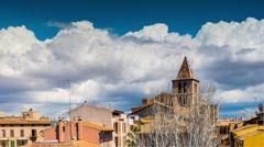 Church of Holy Cross, Palma, Mallorca, Spain Stock Footage