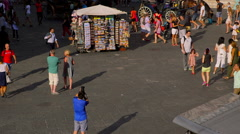 CROWDS TOURISTS WALKING FLORENCE TUSCANY ITALY Stock Footage