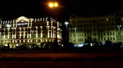 Polonia Palace Hotel in Warsaw, Poland Stock Footage