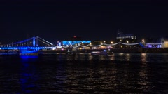 MOSCOW, RUSSIA - Famous Gorky park and river embankment at Stock Footage