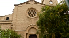 Church of Immaculate Conception, San Magin, Palma Stock Footage
