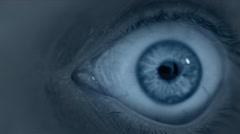 Human eye under surveillance. Stock Footage