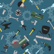 Metal work tools background. Seamless, pattern Stock Illustration