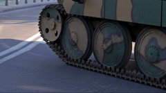 German tank. Stock Footage