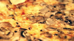 Pizza close up Stock Footage