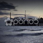 Brighton Pier by night Stock Photos