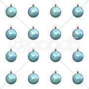 An illustration of 16 different christmas balls Stock Photos