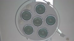 The inclusion of lamps in operation cabinet Stock Footage