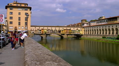 PONTE VECCHIO ARNO RIVER FIRENZE TUSCANT ITALY Stock Footage