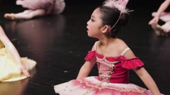 Ballet Asian Kids Stock Footage