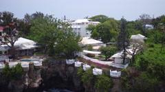 Aerial Santo Domingo seashore houses, Dominican Republic Stock Footage
