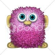 Abstract purple mascot Stock Photos