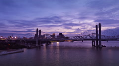 Louisville Purple Hue Sunset Time Lapse Stock Footage