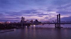Louisville Purple Hue Sunset Time Lapse Arkistovideo