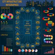 Set of elements infrastructure city, vector infographics. Illustration Stock Illustration