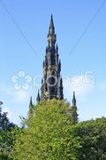 Sir Walter Scott Monument Stock Photos