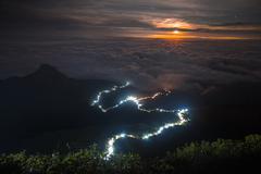 View from Adam's Peak at night Stock Photos