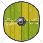 An illustration of an old viking shield Stock Photos
