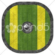 An illustration of an old viking shield texture Stock Photos